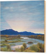 Swan Valley Sunrise Wood Print