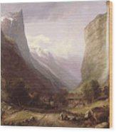 Swiss Scene Wood Print by Samuel Jackson