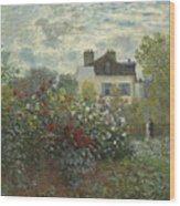 The Artist's Garden In Argenteuil  Wood Print