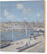 The Beach At Saint Mammes Wood Print