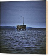 The Dock Of Loneliness Wood Print