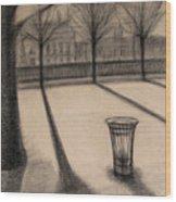 The Evening In Tuileries Paris Wood Print