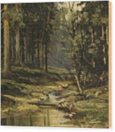 The Forest Brook Wood Print