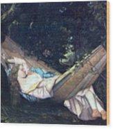 The Hammock Wood Print