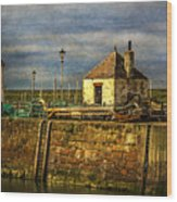 The Harbour At Maryport Wood Print