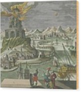 The Lighthouse Of Alexandria Wood Print