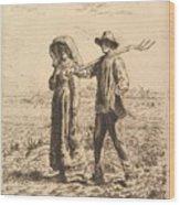 The Peasant Family Wood Print