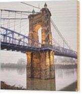 The Roebling Bridge Wood Print