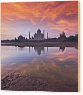 .: The Taj :. Wood Print
