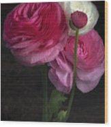 Three And A Half Blooms Wood Print