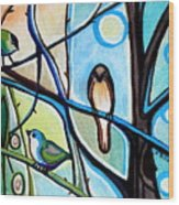 Three Birds Wood Print