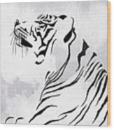 Tiger Animal Decorative Black And White Poster 3 - By Diana Van Wood Print