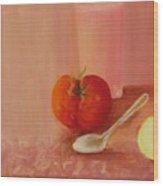 Tomato And Juice Wood Print