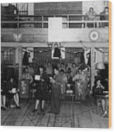 Uso Show May 5 1944 Black White 1940s Archive Wood Print