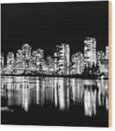 Vancouvers Silver Lining  Wood Print