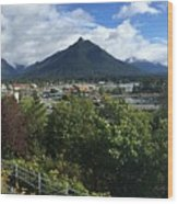View From Top Of Castle Hill Sitka Alaska 2015 Wood Print