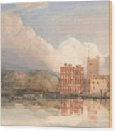 View Of Lambeth Palace On Thames Wood Print