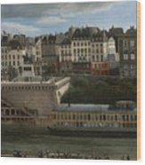 View Of The Seine Wood Print