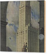 View Of The Woolworth Building Wood Print