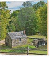 Village Blacksmith Shop Wood Print