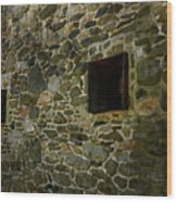 Vintage Stone Wall In Radnor  Pa Wood Print