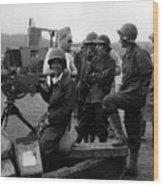 Wacs Learning Fire Machine Gun Circa 1943 Black Wood Print