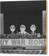 War Bond Rally Buy Bonds February 1944 Black Wood Print