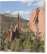 West Garden Of The Gods Wood Print