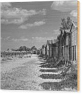 Whitstable Huts Wood Print