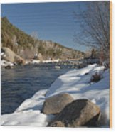 Winter On The Arkansas Wood Print