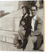 With Dad On Mount Royal Wood Print