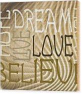 Words Of Love 6 Wood Print