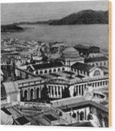 Worlds Fair San Francisco 1915 Black White 1910s Wood Print