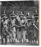 Yurok Indians In Ceremonial Costumes Circa 1905 Wood Print