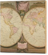 Captain Cook: Map, 1808 Wood Print