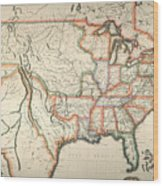 Map: United States, 1820 Wood Print