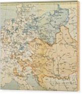Austrian Empire Map, 1795 Wood Print