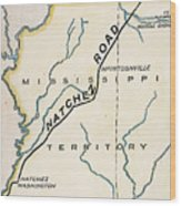 Natchez Trace, 1816 Wood Print