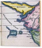 Atlantis: Map, 1831 Wood Print