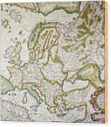 Map Of Europe, 1623 Wood Print