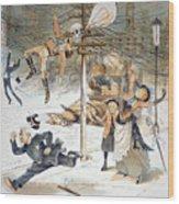 Electricity Cartoon, 1889 Wood Print