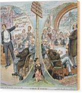 Business Cartoon, 1904 Wood Print