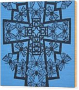 001 Butterfly-cross Wood Print