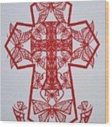 003 Butterfly-cross Wood Print