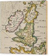 Map Of Great Britain, 1623 Wood Print