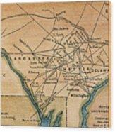 Underground Railroad Map Wood Print