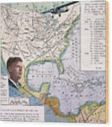 Charles Lindbergh Wood Print