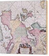 Map: European Coasts, 1715 Wood Print