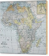 Map: Africa, 19th Century Wood Print