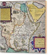 African Map, 1595 Wood Print